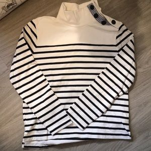 J Crew Striped Sweatshirt with buttons- XS